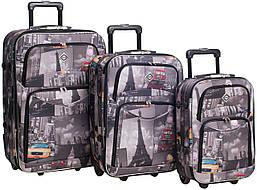 Набор чемоданов на колесах Bonro Best City 3 штуки
