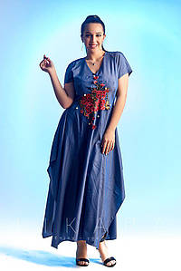 Женское летнее платье в пол №82-535 БАТАЛ