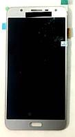 Модуль (дисплей + сенсор) для Samsung J701F/DS Galaxy J7 Neo AMOLEDсрібний