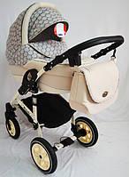 """Универсальная всесезонная детская коляска 2 в 1 """"Michelle"""" бежевая"""