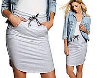 Серая спортивная юбка Alisa (код 143)