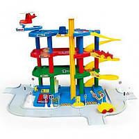 Детская парковка Гараж с вертолетной площадкой Mochtoys 5780