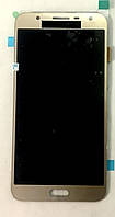 Модуль (дисплей + сенсор) для Samsung J701F/DS Galaxy J7 Neo AMOLEDзолотий