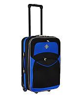 Дорожный чемодан на колесах Bonro Best Черно-синий Небольшой