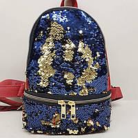 Рюкзак с пайетками 30х23см, фото 1
