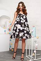Женское платье с цветочным узором ( KP-10012-8)