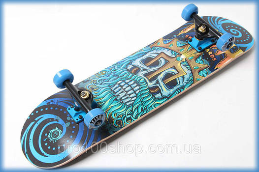 Скейт деревянный от Fish Skateboard Нептун канадский клен