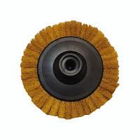 Круг лепестковый скотч-брайт Smirdex для УШМ 125*М14 (P1000, желтый)