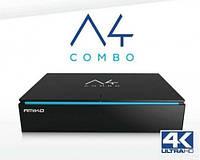 Ресивер комбинированый 4К Amiko A4 COMBO HD DVB-S2/T2/C S905 1GB/8GB Android
