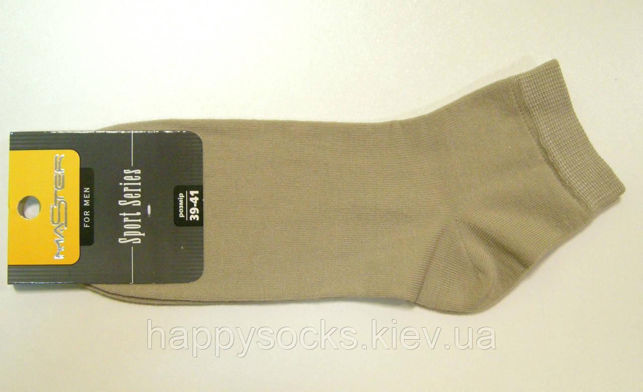 Носки мужские с низким паголенком бежевого цвета