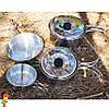 Набор туристической посуды 4 в 1 Milicamp SS04 нержавеющая сталь