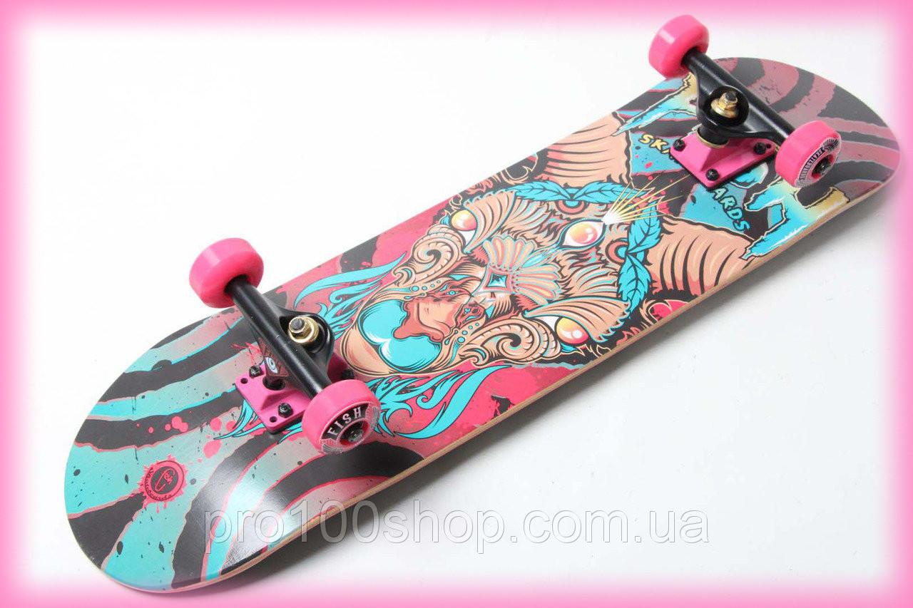 Скейт деревянный от Fish Skateboard Овен канадский клен