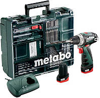 Аккумуляторная дрель-шуруповерт Metabo PowerMaxx BS Basic Set (600080880)