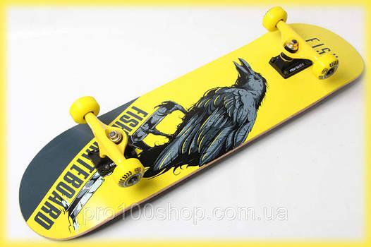 Скейт деревянный от Fish Skateboard Ворон канадский клен