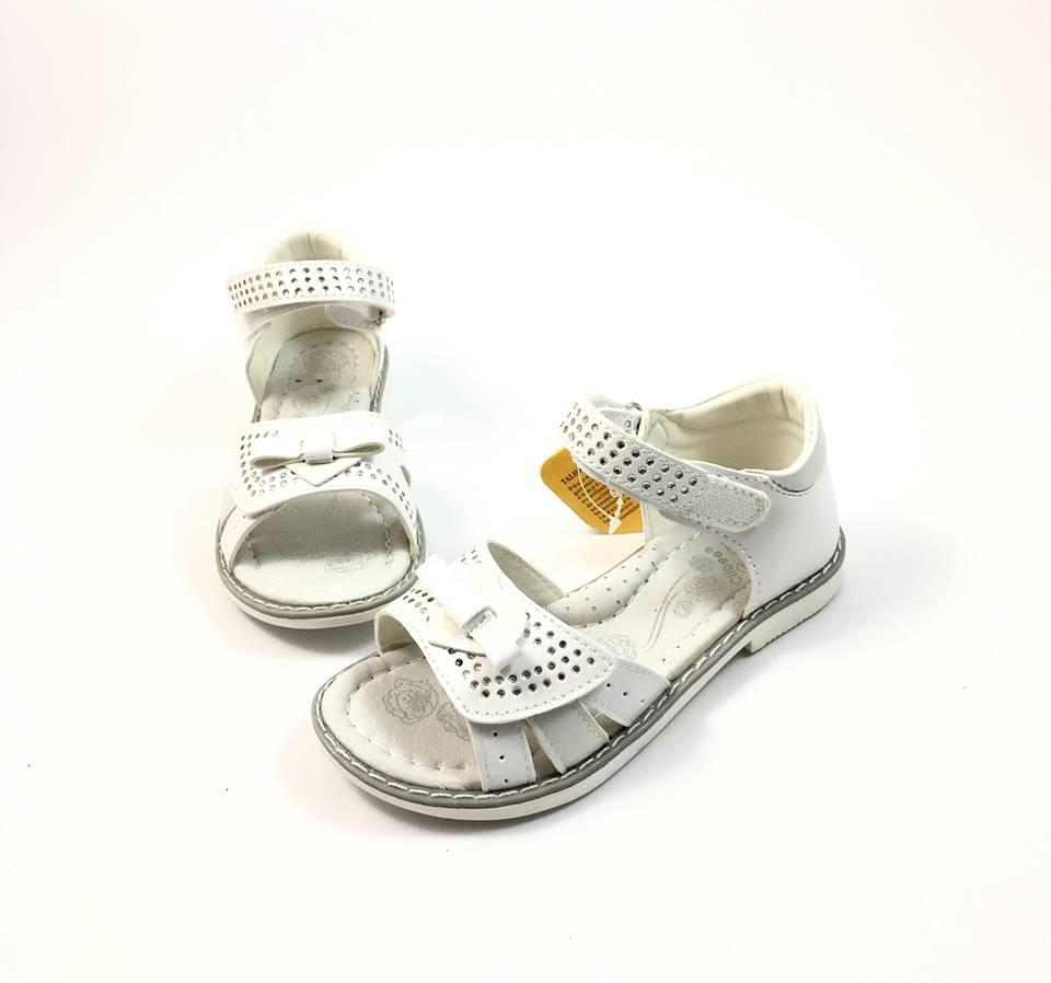 Белые сандалии (дев) Clibee Стразы 218 (р.25)