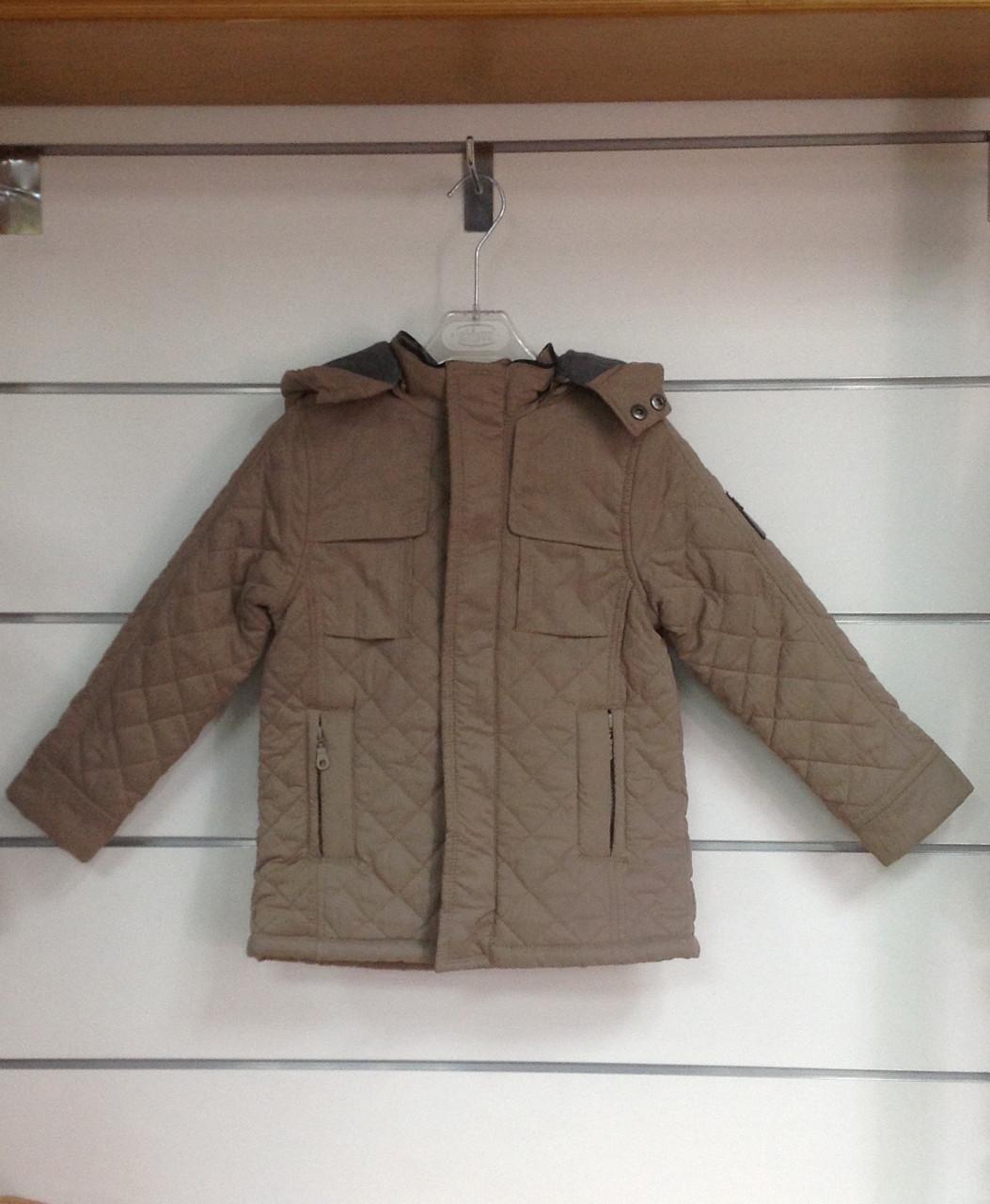 Куртка для мальчика Chicco  удлиненная кофейная р.116
