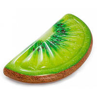 Надувной пляжный плот-матрас Intex 58764 «Долька Киви», зеленый, 178 х 85 см