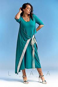 Женское повседневное платье миди №82-577 БАТАЛ