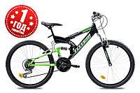 """Горный двухподвесный велосипед TOTEM MARSSTAR AMT 26"""" 19"""" Черный/Зеленый"""
