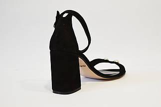 Замшеві босоніжки чорні Nivelle 1847, фото 2