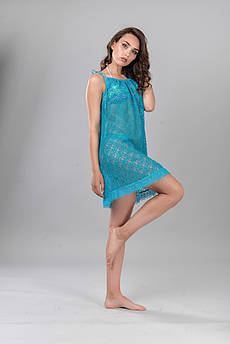 Летнее кружевное платье Lato синее