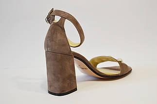 Замшеві босоніжки візон Nivelle 1847, фото 2