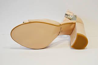 Босоножки кожасатен пудра Nivelle 1723, фото 3