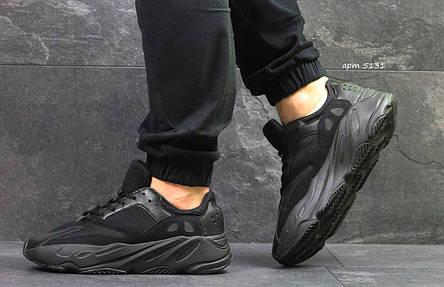 Летние мужские кроссовки Adidas Yeezy Wave Runner 700 Black (реплика), фото 2