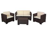 Комплект садовой мебели COLORADO 2 коричневый с подушками