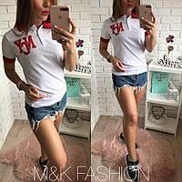 Женская футболка-поло, в разных моделях, Турция (М-13-0418)