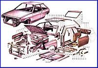 Деталі на кілька моделей автомобілів