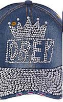 Жіноча кепка джинсова