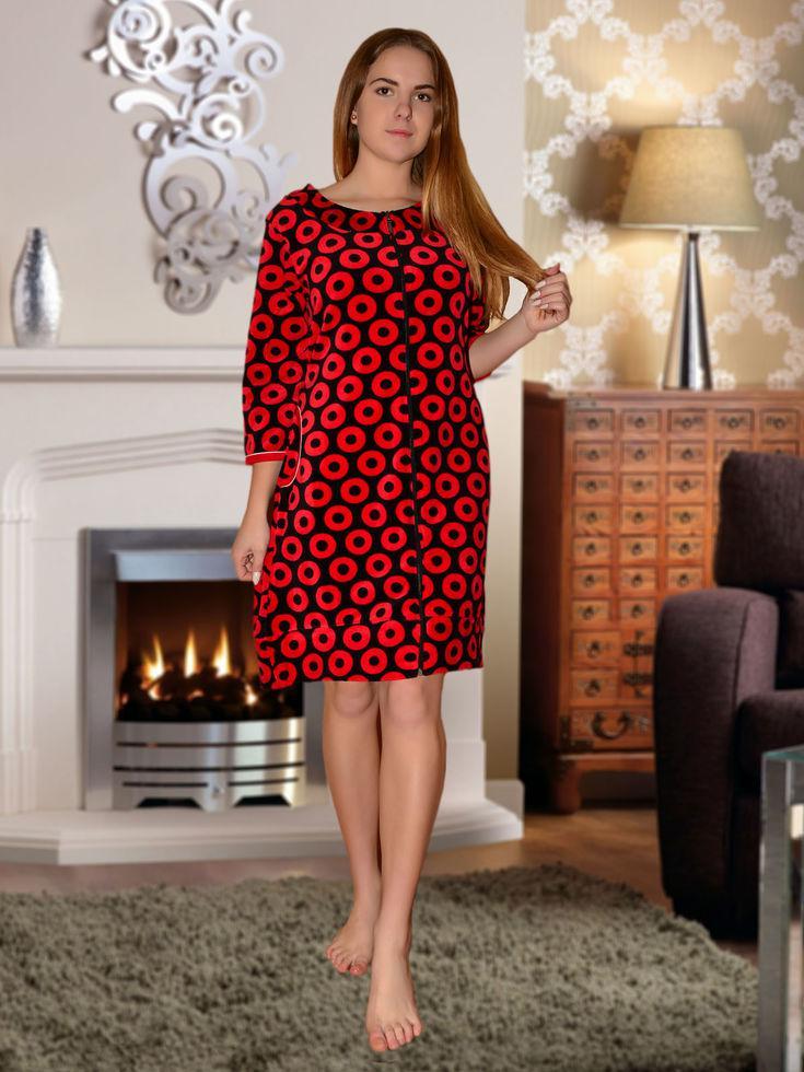 dfd4299de722c Халат тёплый женский с круглой горловиной, цена 424 грн., купить в ...