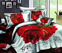 Семейное постельное белье сатин LOVE YOU Счастье