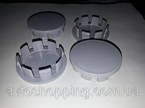 Колпачки, заглушки на диски серые 48 мм / 42 мм без бортика