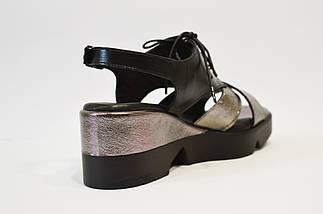 Босоножки женские черная платина Molly Bessa, фото 2