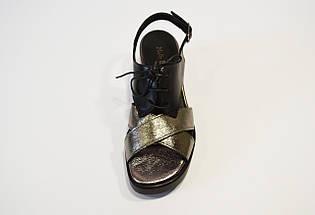 Босоножки женские черная платина Molly Bessa, фото 3