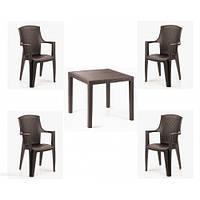 Комплект садовой мебели King Eden 4 коричневый
