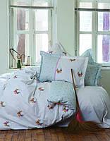 Комплект постельного белья Karaca Home Alisse бирюзовый