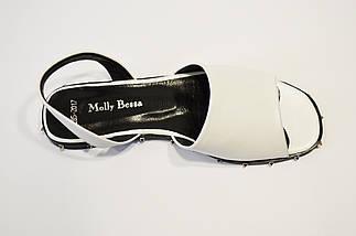 Босоножки с шипами белые Molly Bessa, фото 3