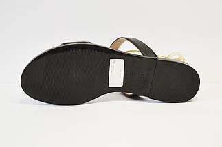 Босоножки на плоской подошве черные Lottini, фото 3