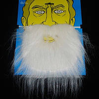 Борода с усами старика/ гнома белая