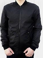 Бомбер весенний мужской, цвет черный, фото 1