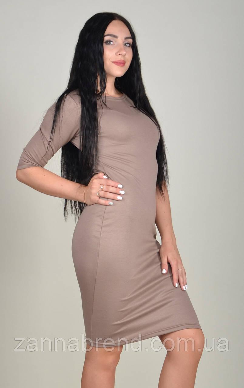 9d58b29b26e Платье футляр женское ZANNA BREND 100 рукав три четверти бежевый - ZANNA  BREND - украинский производитель
