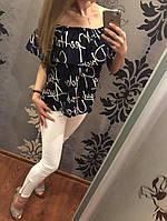 Блуза женская Волан 42-46р в ассортименте