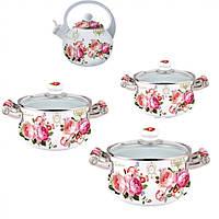 Набор посуды Vissner VS-5363 rose 8 предметов