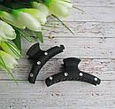 Краб для волос каучук со стразами  L 6,5 см черный 12 шт/уп , фото 2