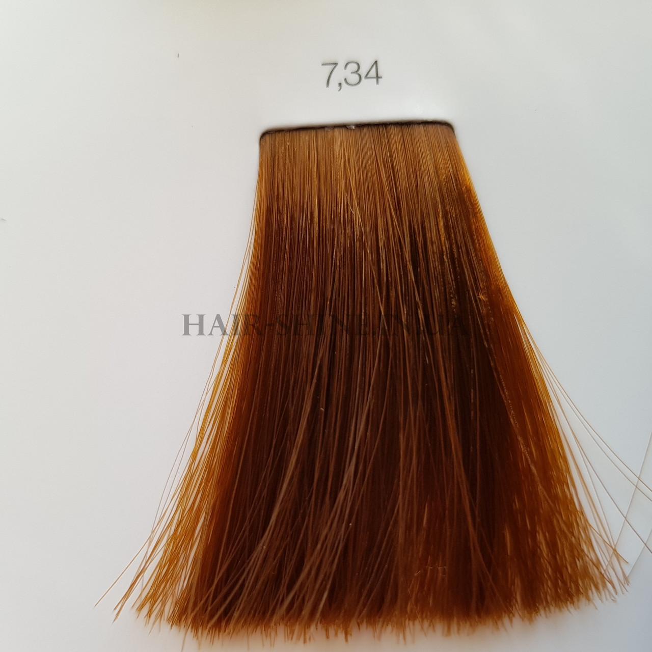 Краска без аммиака 60 мл  L'Oreal Professionnel Inoa 7.34 Блондин золотистый медный