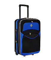 Дорожный чемодан на колесах Bonro Best Черно-синий Средний