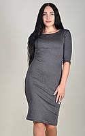 Платье футляр женское ZANNA BREND 100 рукав три четверти серый